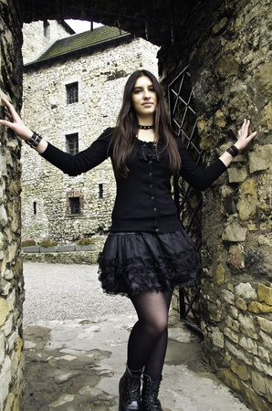 Young gorl goth style photo