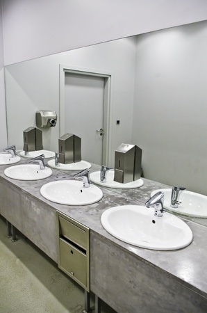 sanitary: sinks in the public toilet