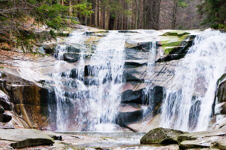 mumlavsku waterfall near Harrachov , in Czech republic photo