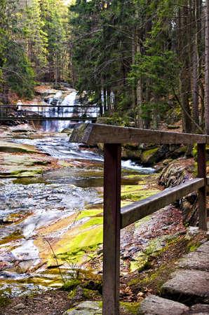 mumlavsku waterfall near Harrachov , in Czech republic photo