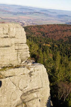 Szczeliniec - the rocky mountain in western Poland photo