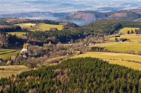 Panoráma a Szczeliniec hegyi, Lengyelországban