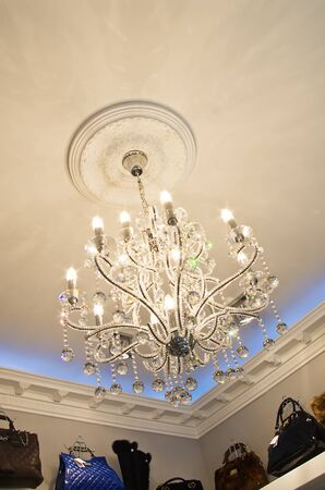 very expensive chandelier in an exclusive store Stock Photo - 13715267