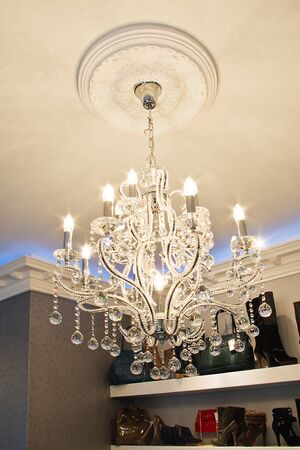 very expensive chandelier in an exclusive store Stock Photo - 13715266