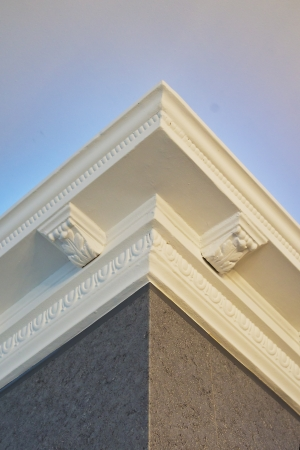molding: the stucco ceiling mounted in luxurious room Stock Photo
