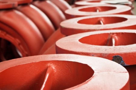 the cast iron parts for various machines Stock Photo - 13794081