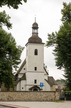 gory: Vecchia chiesa in Tarnowskie Gory, Slesia, Polonia Archivio Fotografico