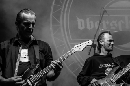 headbang: RADZIONKOW, POLAND - SEPTEMBER 02: The show of Oberschlesien band during StreetART festival. September 02, 2012 in Radzionkow,(Silesia province), Poland.