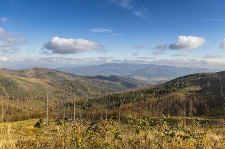 on the way to Barania mountain, Very nice view of polish muntains photo