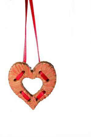 The gingerbread hearts for valentine day. Isolated photo