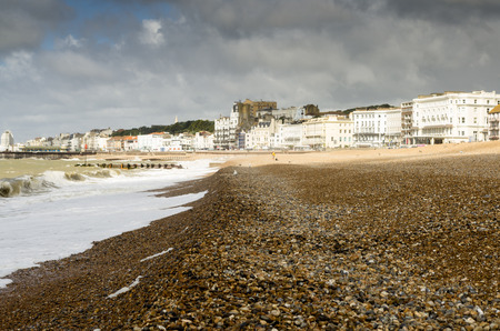 hastings: hasting - a small tourist town in east england