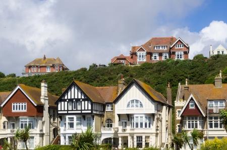 Néhány viktoriánus házak Hastings, East Sussex Stock fotó