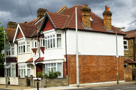 Typical urban buildings in England photo