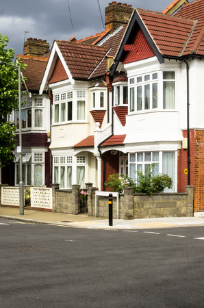 Typical urban buildings in England Stock Photo
