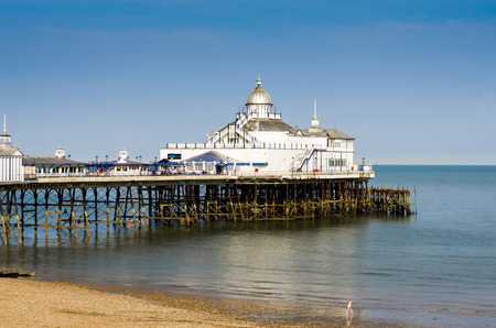 Wooden pier in Eastbourne, southern part of England Stock Photo