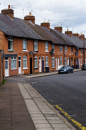 redbrick: Terraced houses  typical British urban development