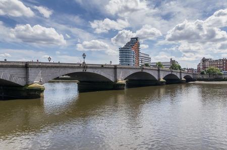 putney: London  UK - June 8  Putney bridge in London, 8 June  2014 in London , UK