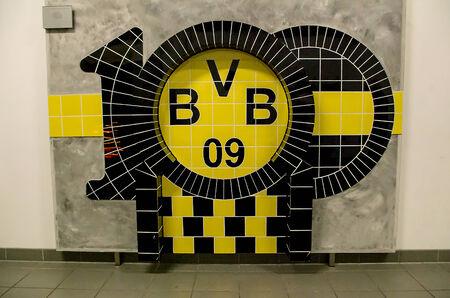 DORTMUND, GERMANY - JULY 13: 100  years of BVB Borussia Dortmund Logo July  13, 2014, in Dortmund, Germany. Editorial