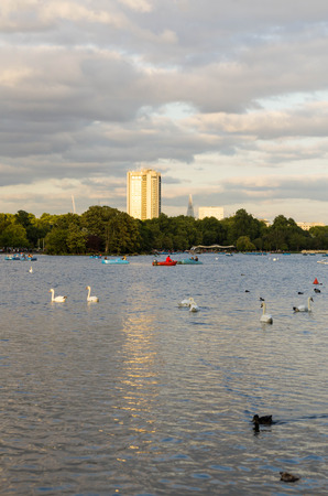 lake in hyde park in central London photo