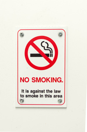 not permitted: no smoking it is against the law to smoke in this area