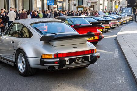 regent: LONDON - November 01 : Regent street motor show -25th anniversary Porsche 911. 1st November 2014 LONDON.UK