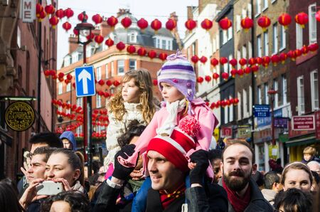 CHINA TOWN IN LONDON - FEBRUARY 22:Main parade celebration of Chinese New Year - the year of the sheep. London 22 february 2015