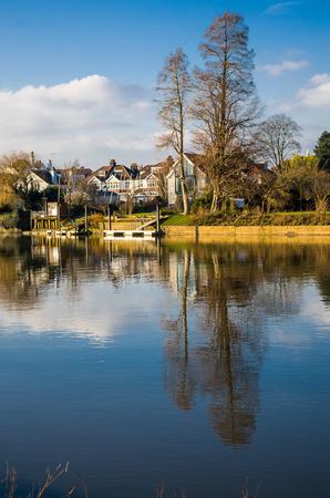 typically english: THames river - London Borough of Richmond upon Thames Stock Photo