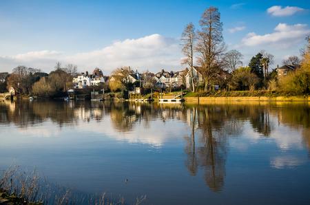 typically british: THames river - London Borough of Richmond upon Thames Stock Photo