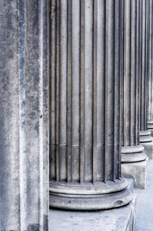 grooves: Granite column with recessed grooves