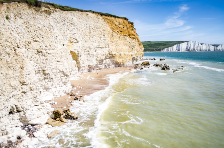 seven sisters: Seven Sisters Country Park in Sussex, UK