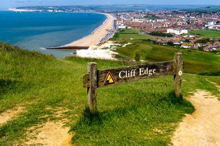 cliff edge: cliff edge Stock Photo