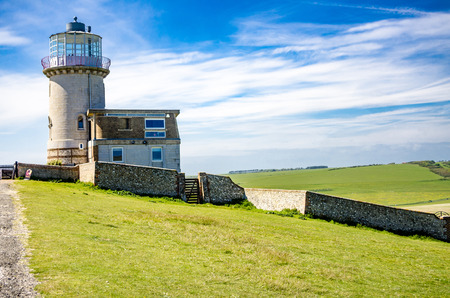 tout: 2015 may 17 - belly tout light house, sussex, UK Stock Photo