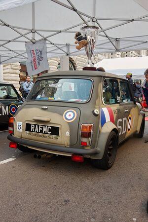 regent: LONDON -October 31 : Regent street motor show - exhibition of Mini Morris. 31st October 2015 LONDON.UK Editorial