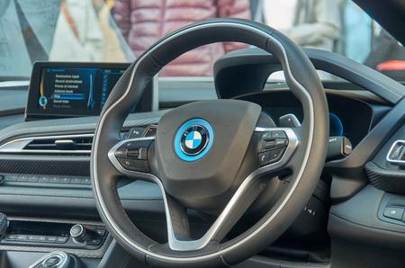 31st: LONDON -October 31 : Regent street motor show - BMW I8 31st October 2015 LONDON.UK