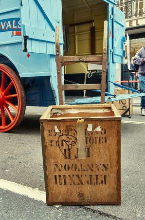 31st: LONDON -October 31 : Regent street motor show - exhibition of Abels Old removal company. 31st October 2015 LONDON.UK