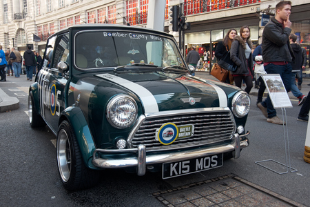 morris: LONDON -October 31 : Regent street motor show - exhibition of Mini Morris. 31st October 2015 LONDON.UK Editorial