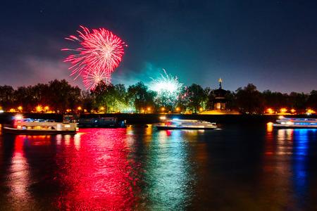Lndon, Uk 2015, november 7. Guy Fawkes fireworks at southbank of thames river. london , november 7 2015