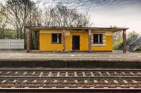abandon: a abandon train station at sall town in Poland