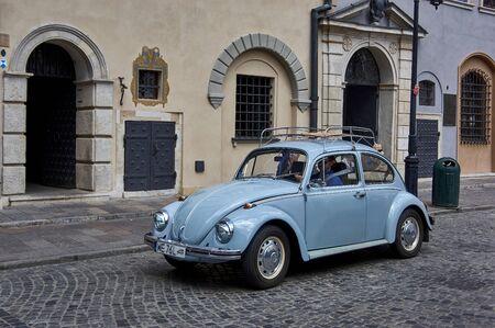 warsawa, Poland - 28 June 2019 -  VW beatlle at old town