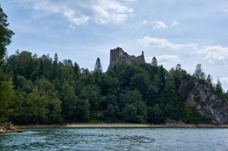 Ruins of Czorsztyn castle. In south Poland