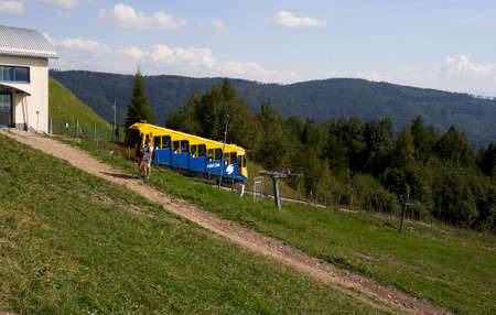 Zar mountain, Beskid, Poland 20 August 2020 car of zar railway