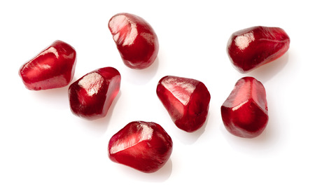 abstract seed: Seeds of pomegranate in closeup