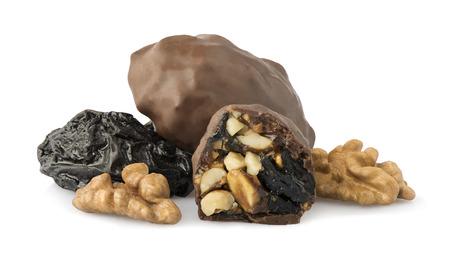 ciruela pasa: Ciruela chocolate con nueces