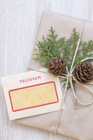 telegram: Christmas present with the vintage telegram