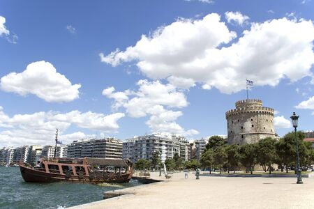 Panorama of Thessaloniki with the White Tower