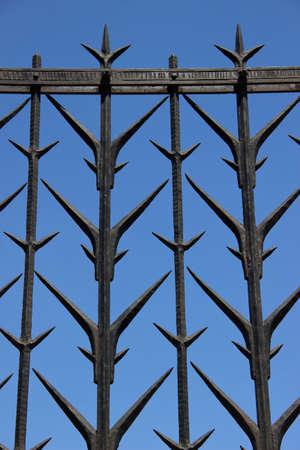 metal fence: Massive metal fence