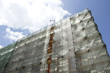 scaffolds: Restoration of an old classical facade