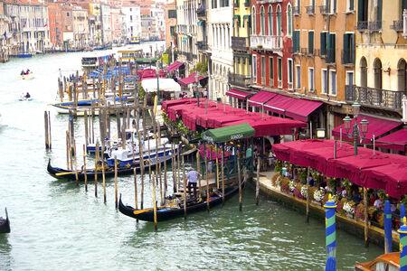 rialto: Grand Canal from Rialto Bridge in Venice, Italy Editorial