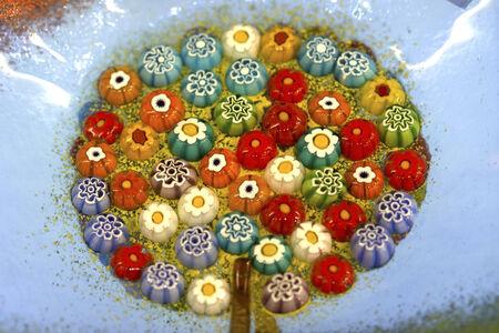 Colorful Venetian Murano glass background