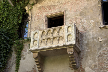 The famous balcony of Romeo and Juliet in Verona, Italy